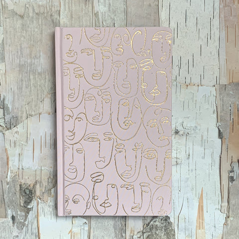 Blush Pink Faces Journal