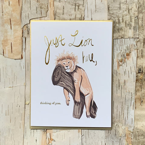 Just Lion Here Card