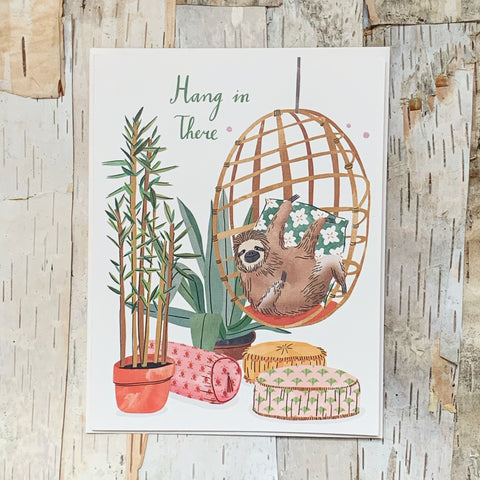 Hang In There Sloth Chair Card