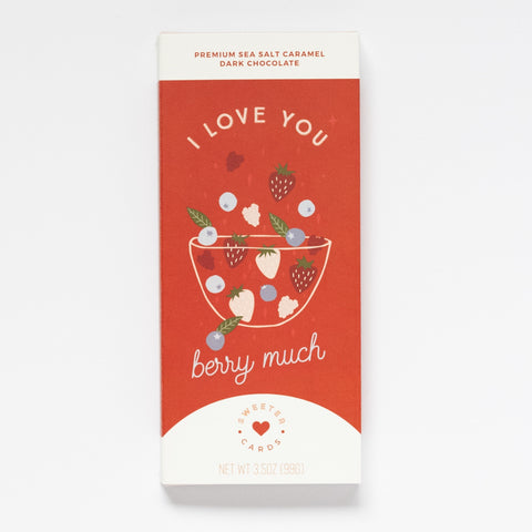I Love You Card With Chocolate Bar