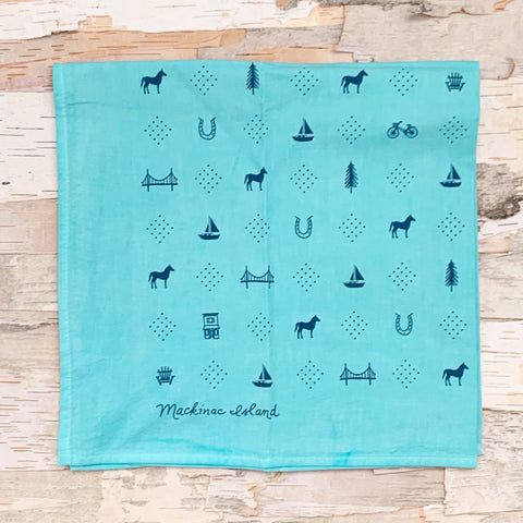 Mackinac Icons Aqua Bandana