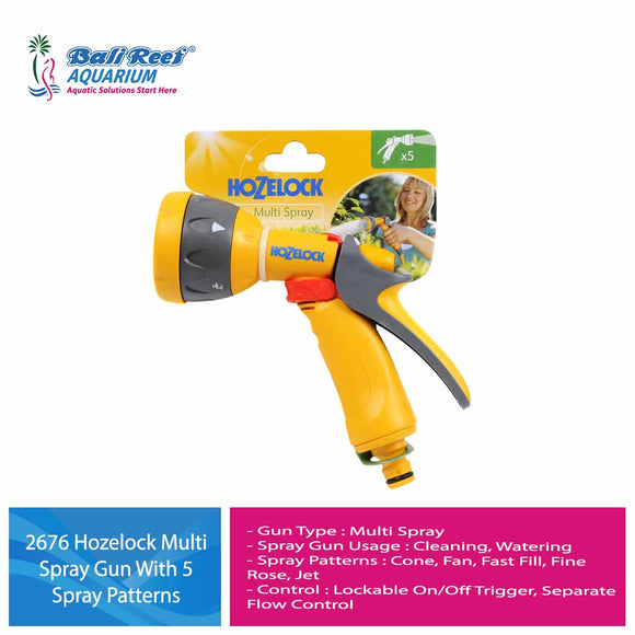2676 Hozelock Multi Spray Gun With 5 Spray Patterns