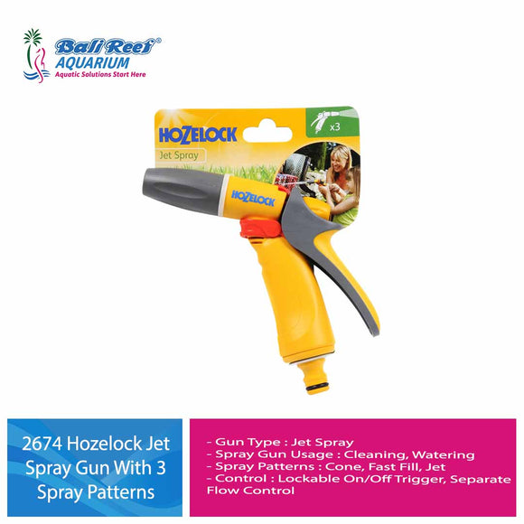 2674 Hozelock Jet Spray Gun With 3 Spray Patterns
