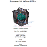 Ecopower Hozelock Hz 1348 5000- 10000L Uvc 8W Pond Pump & Filter Bali Reef Aquarium Online Store