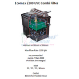 Ecopower Hozelock Hz 1357 2200- 5000L Uvc 6W Pond Pump & Filter Bali Reef Aquarium Online Store