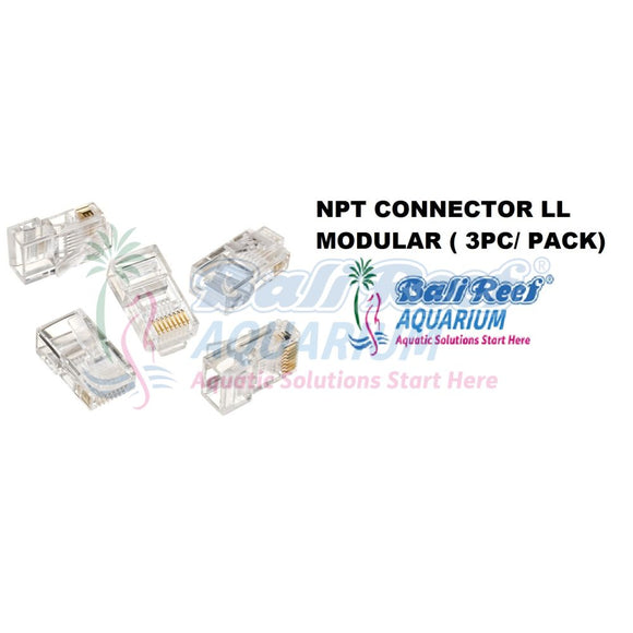 Npt Connector Ll Modular ( 3Pc/ Pack) 18092017 Bali Reef Aquarium Online Store