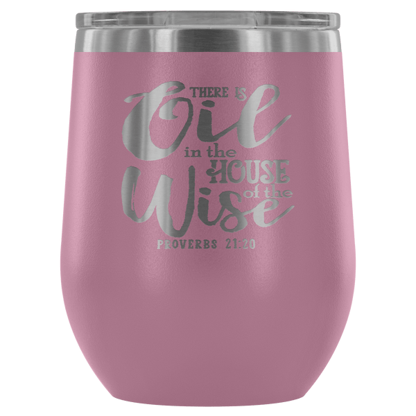 PROVERBS EO STAINLESS STEEL VACUUM WINE TUMBLER - 12 COLORS TO CHOOSE FROM