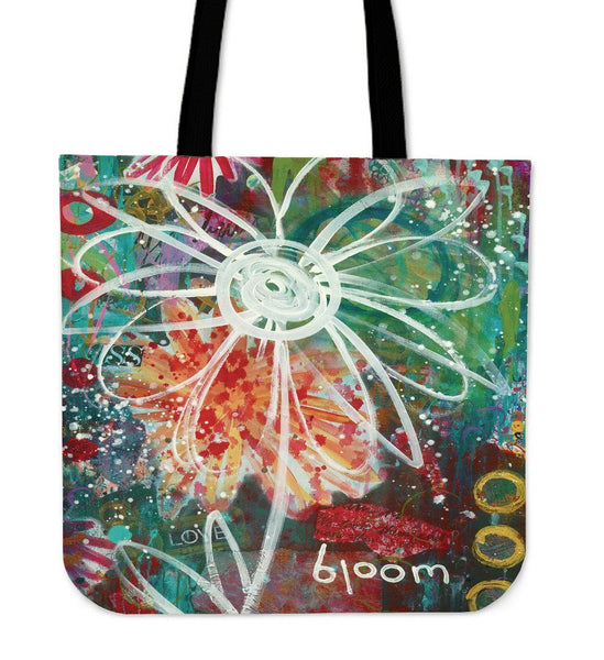 BEAUTIFUL BLOOM CANVAS TOTE