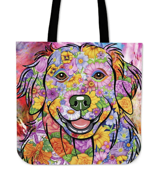 FABULOUS GOLDEN RETRIEVER CANVAS TOTE