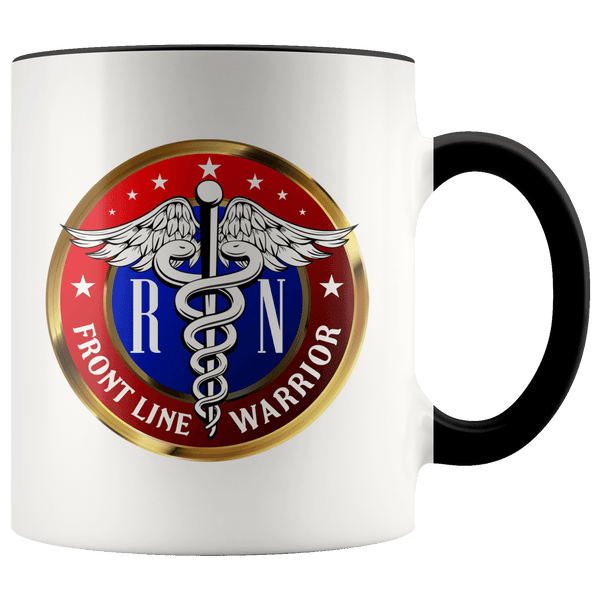 FRONT LINE WARRIOR RN TWO TONE MUG