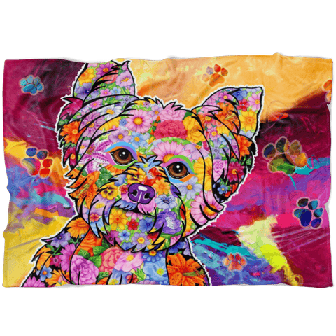 FABULOUS YORKIE FLEECE BLANKET