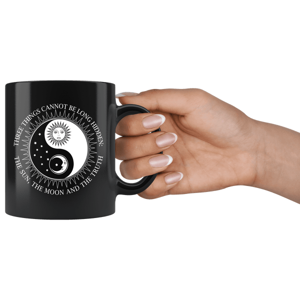 BEAUTIFUL SUN MOON TRUTH BLACK MUG