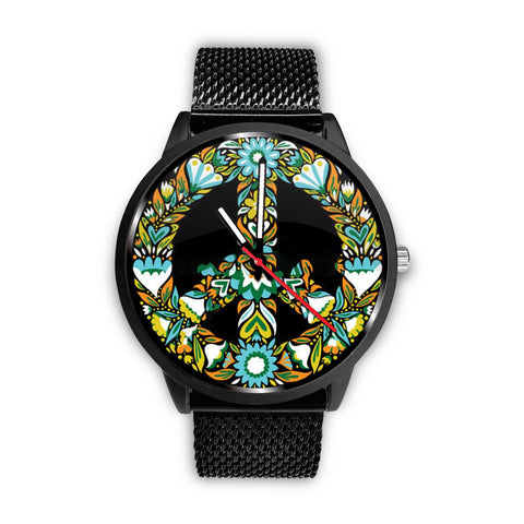 AWESOME PEACE SYMBOL WATCH - MULTIPLE BANDS TO CHOOSE FROM