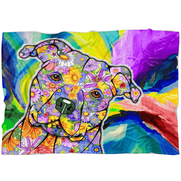 FABULOUS PIT BULL FLEECE BLANKET