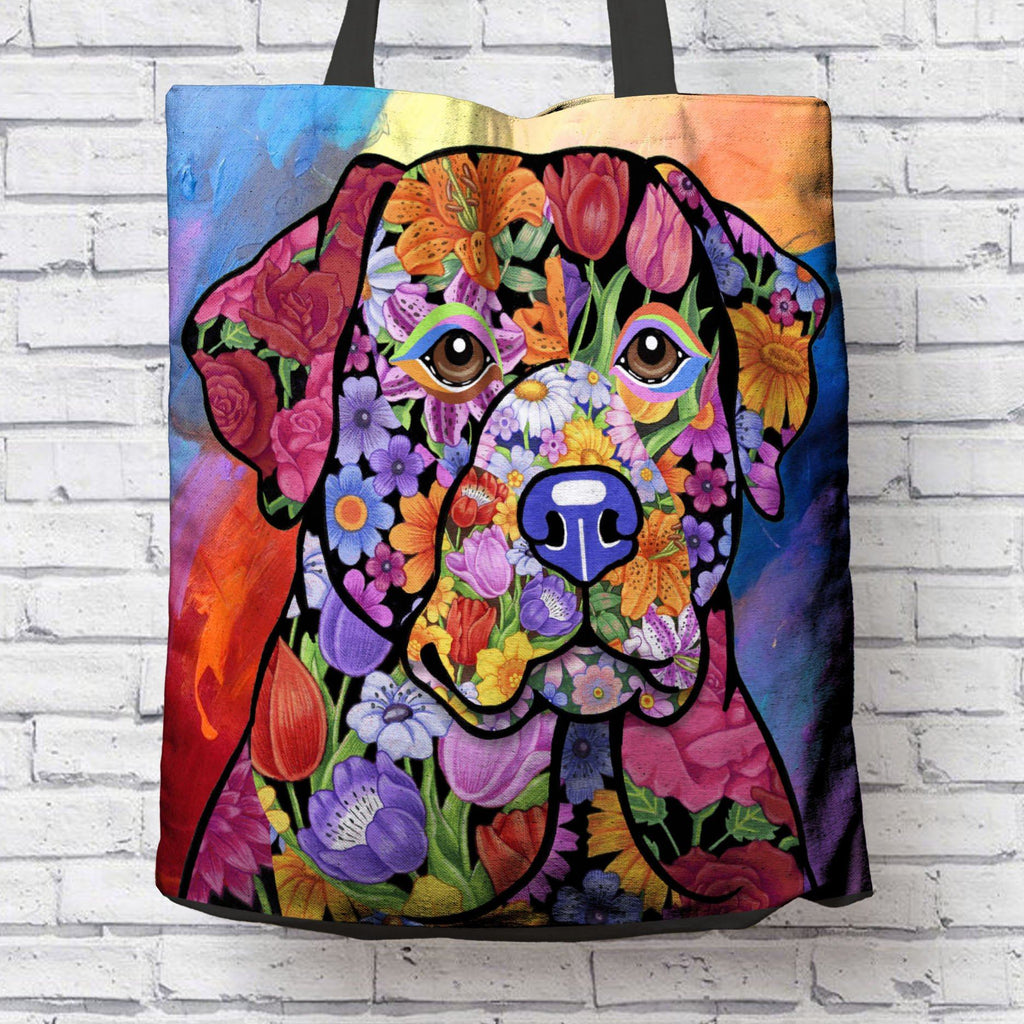FABULOUS BLACK LAB CANVAS TOTE