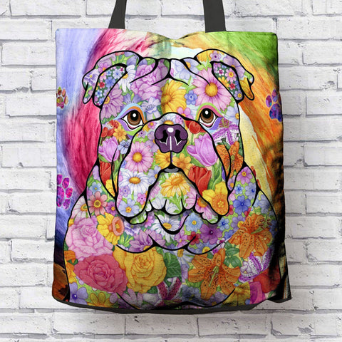 FABULOUS BULLDOG CANVAS TOTE
