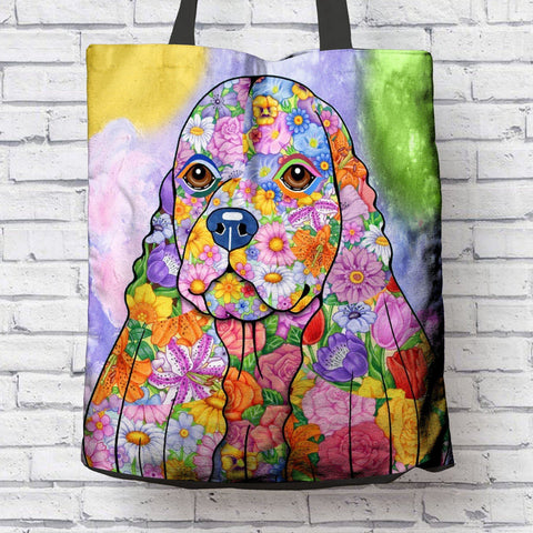 FABULOUS COCKER SPANIEL CANVAS TOTE