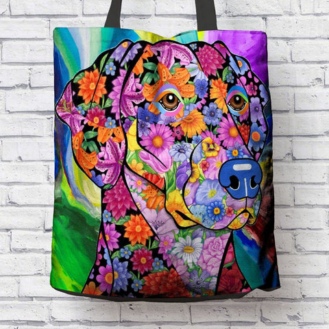 FABULOUS DOBERMAN CANVAS TOTE