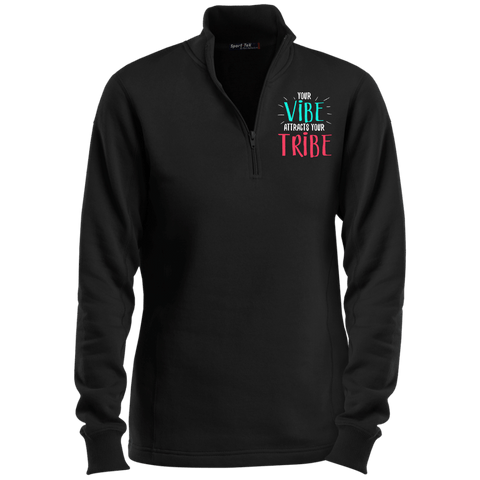 EMBROIDERED VIBE Sport-Tek Ladies' 1/4 Zip Sweatshirt- 7 Colors to Choose From