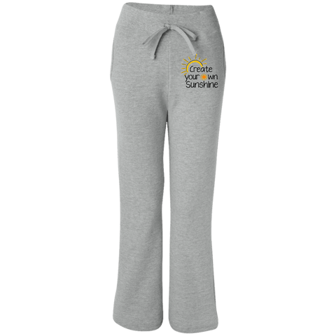 EMBROIDERED SUNSHINE Gildan Women's Open Bottom Sweatpants with Pockets