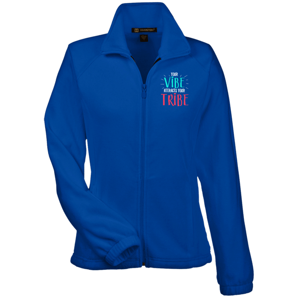EMBROIDERED VIBE Women's Fleece Jacket - 7 Colors to Choose From