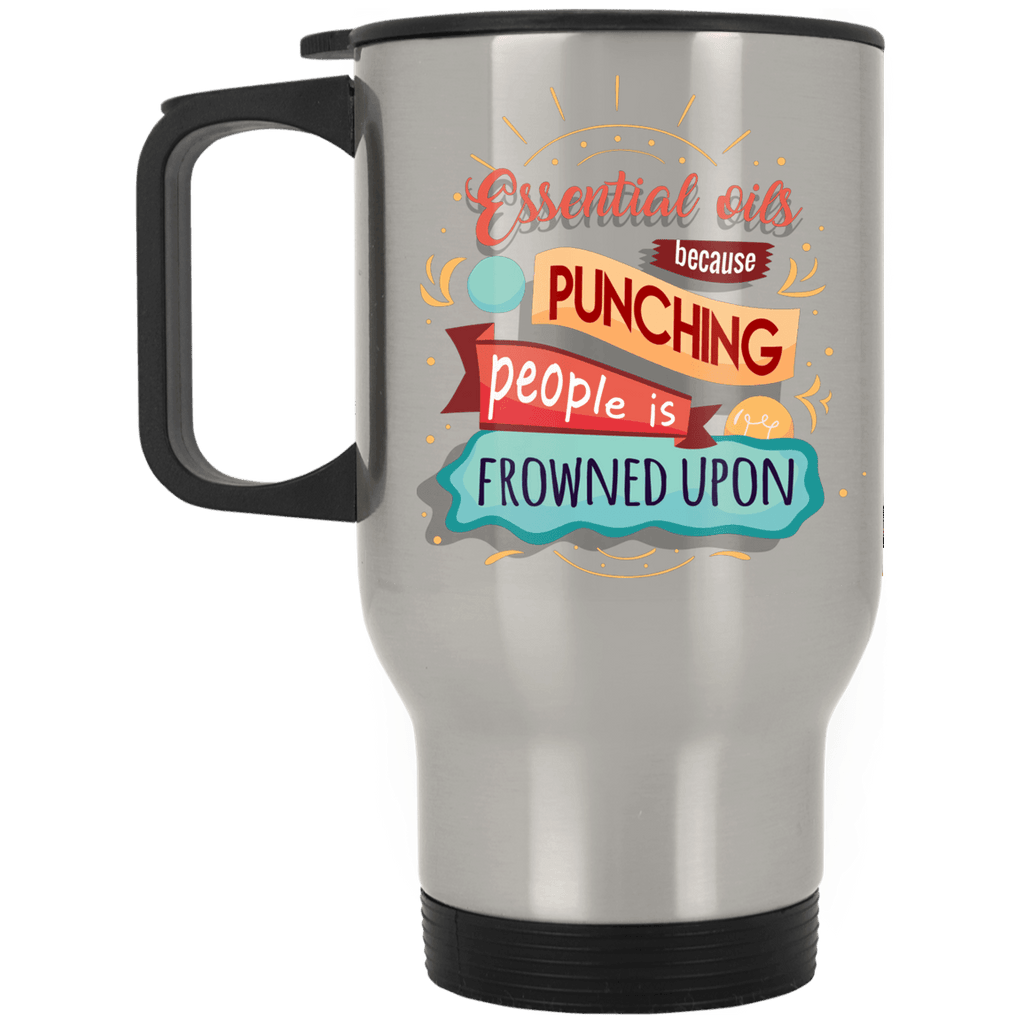 FUNNY EO Silver Stainless Travel Mug - 14 oz.