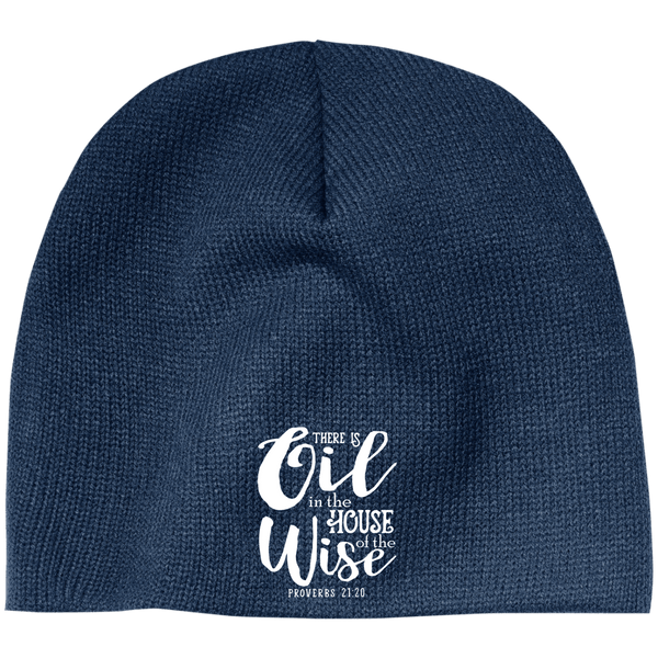 EMBROIDERED PROVERBS 100% Acrylic Beanie