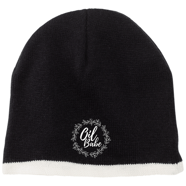 EMBROIDERED OIL BABE 100% Acrylic Beanie