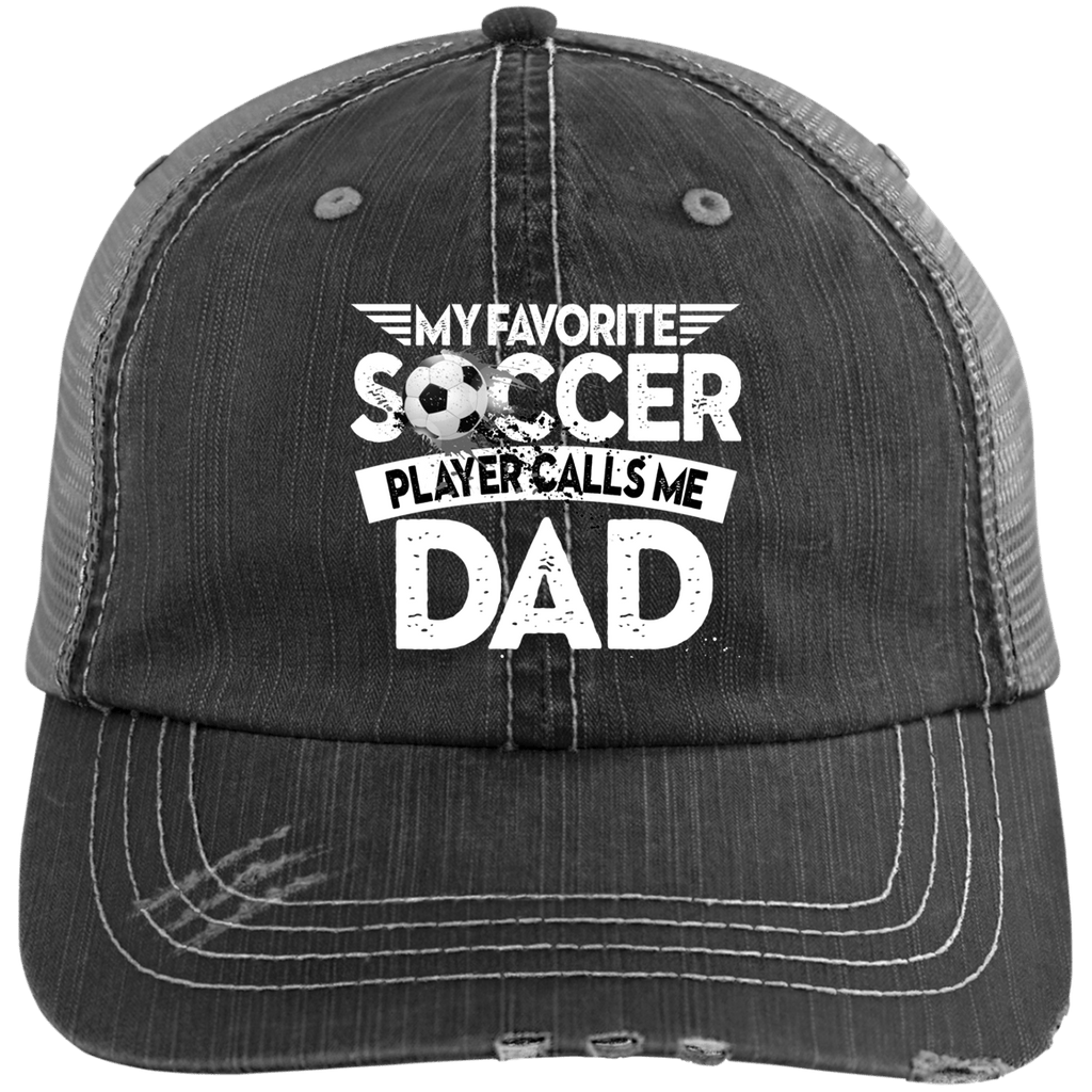 EMBROIDERED Soccer Dad Distressed Unstructured Trucker Cap