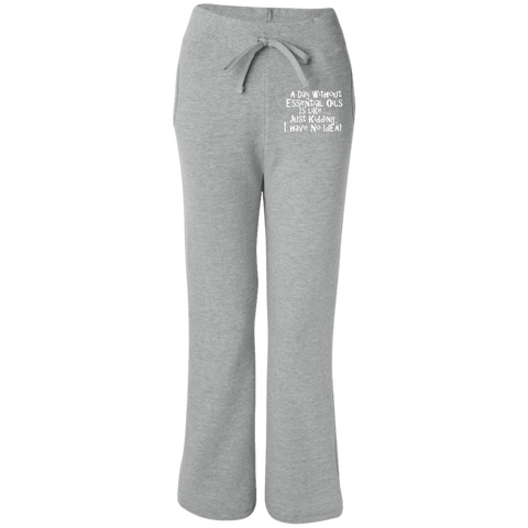 EMBROIDERED ESSENTIAL OILS Gildan Women's Open Bottom Sweatpants with Pockets