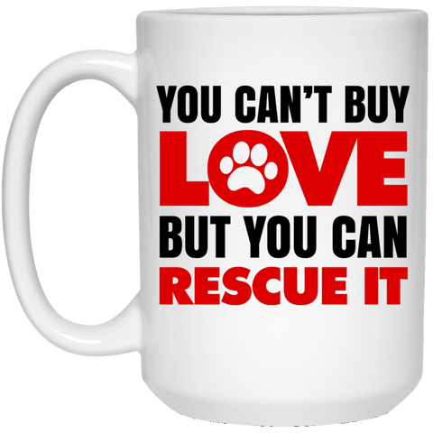 RESCUE White Mug - BIG 15 oz. size