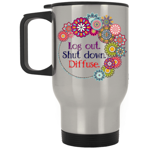 DIFFUSE Silver Stainless Travel Mug - 14 oz.