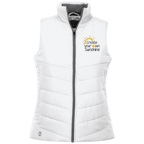 EMBROIDERED SUNSHINE Holloway Ladies' Quilted Vest