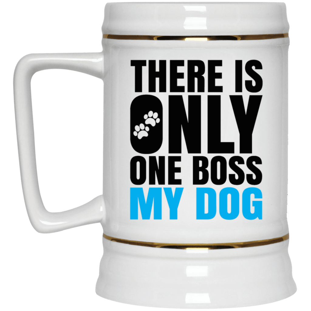 DOG IS BOSS Beer Stein 22oz.