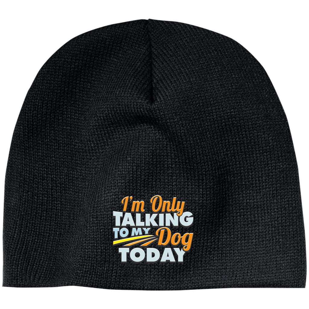 TALK TO MY DOG 100% Acrylic Beanie