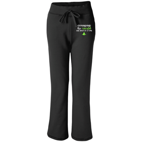 EMBROIDERED ONE DROP Gildan Women's Open Bottom Sweatpants with Pockets