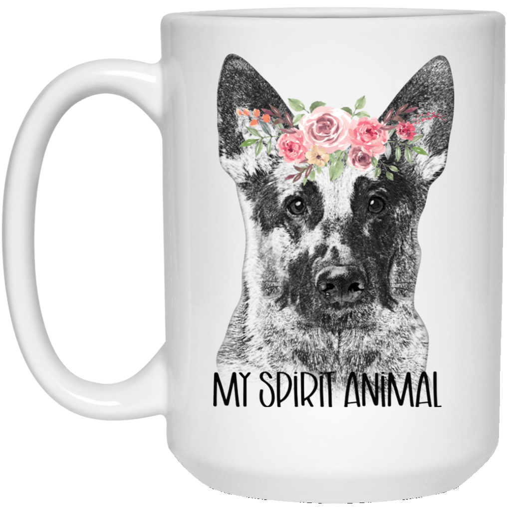 German She[ 15 oz. White Mug