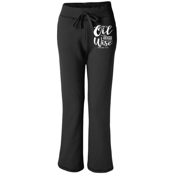 EMBROIDERED PROVERBS Gildan Women's Open Bottom Sweatpants with Pockets