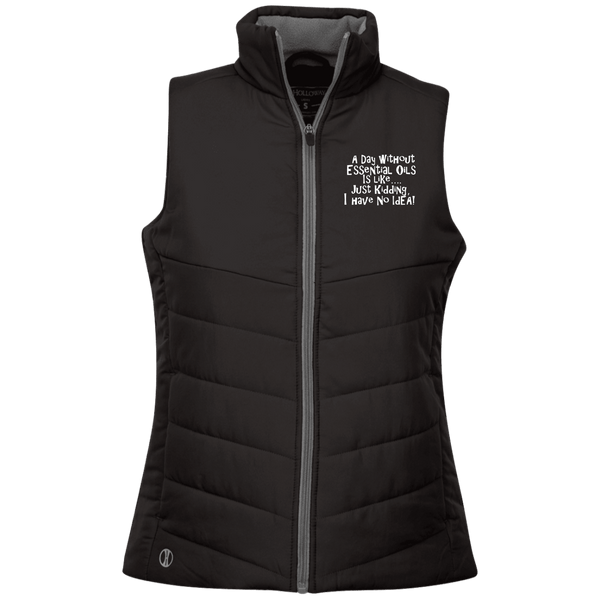EMBROIDERED ESSENTIAL OILS Holloway Ladies' Quilted Vest