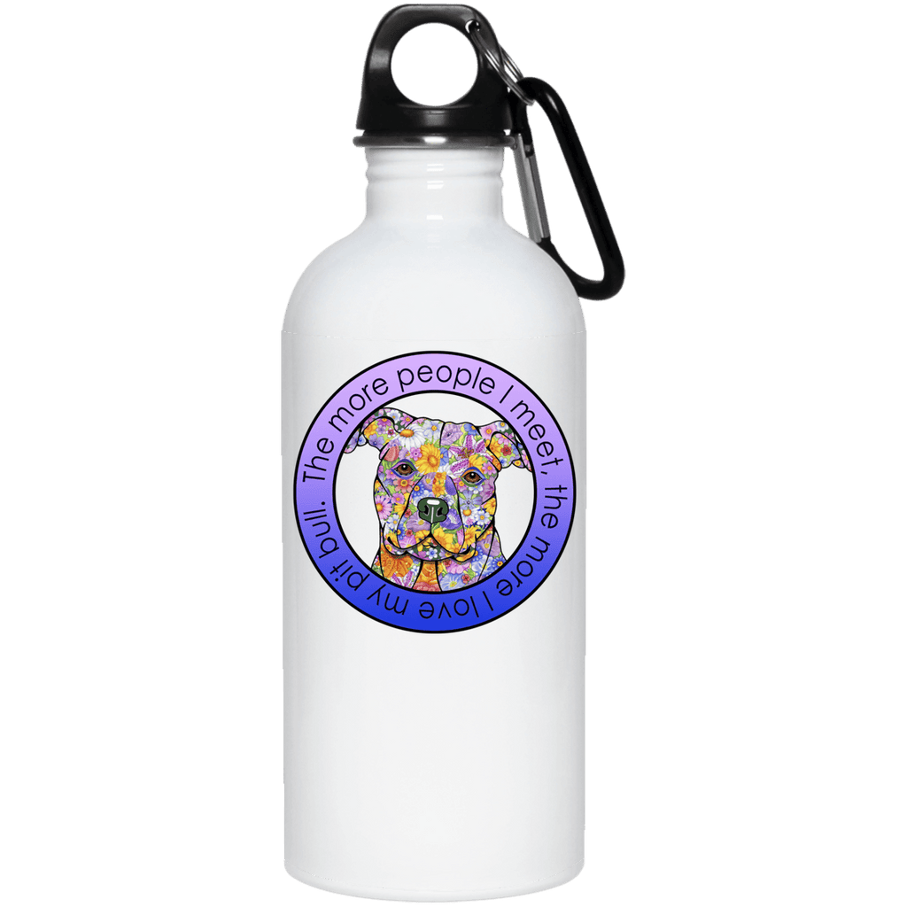 LOVE MY PIT BULL QUALITY 20 oz. Stainless Steel Water Bottle
