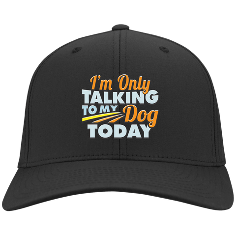 TALK TO MY DOG Sport-Tek Dry Zone Nylon Cap - EMBROIDERED Design