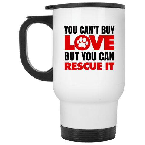 RESCUE White Travel Mug - 14 oz.