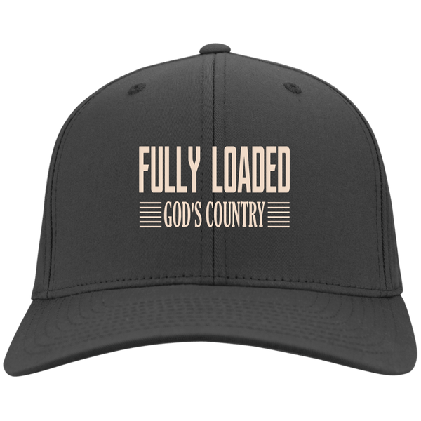 EMBROIDERED FULLY LOADED GOD'S COUNTRY Port & Co. Twill Cap