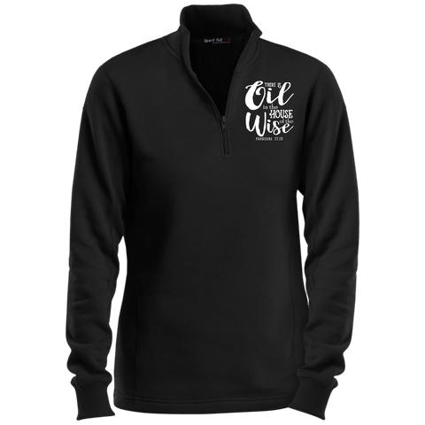 EMBROIDERED PROVERBS Sport-Tek Ladies' 1/4 Zip Sweatshirt- 7 Colors to Choose From