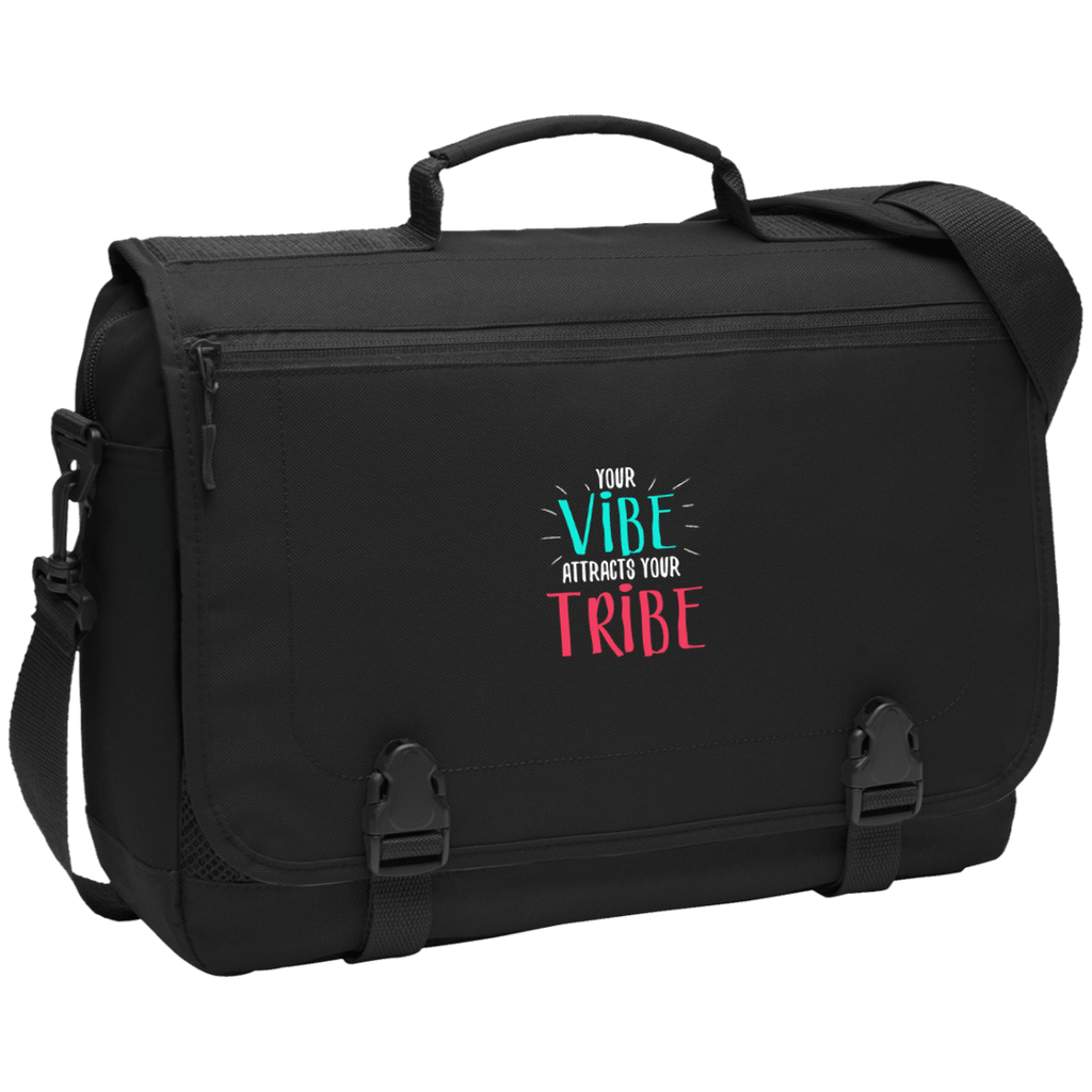 EMBROIDERED VIBE Port Authority Messenger Briefcase