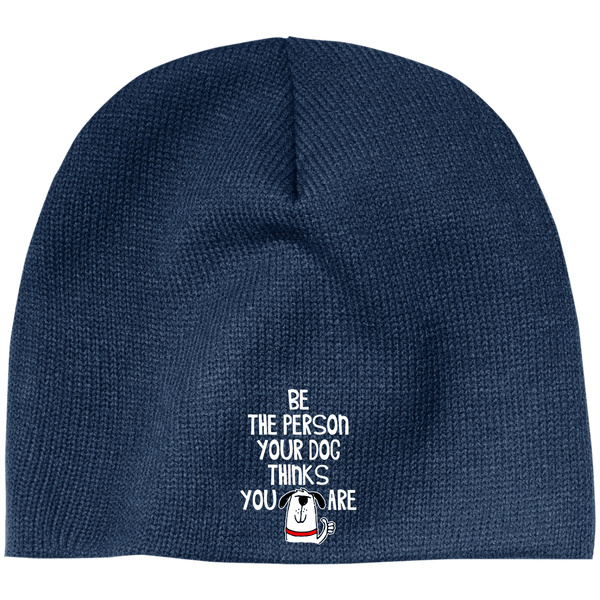 BE THE PERSON 100% Acrylic Beanie - EMBROIDERED Design