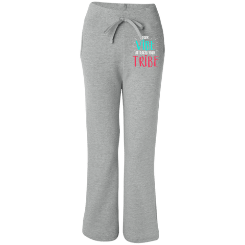 EMBROIDERED VIBE Gildan Women's Open Bottom Sweatpants with Pockets
