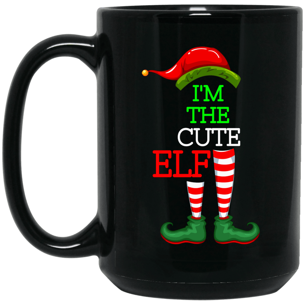 CUTE ELF 15 oz. Black Mug