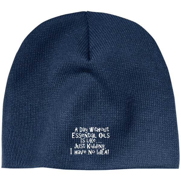 EMBROIDERED ESSENTIAL OILS 100% Acrylic Beanie