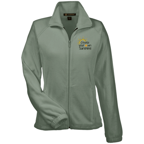 EMBROIDERED SUNSHINE Women's Fleece Jacket - 4 Colors to Choose From